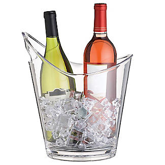 BarCraft Clear Acrylic 2-Bottle Wine Cooler