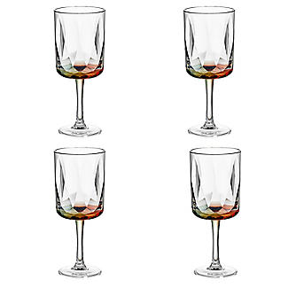 Kaleidoscope Large Plastic Wine Goblets – Set of 4