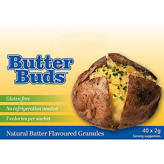 Butter Buds Sachets Of Dried Low Fat Butter 40 x 2g. alt image 2