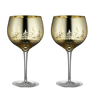 Gold Tree Gin Glasses – Set of 2