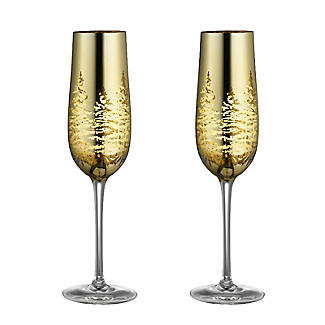 Gold Tree Champagne Flutes 200ml – Set of 2