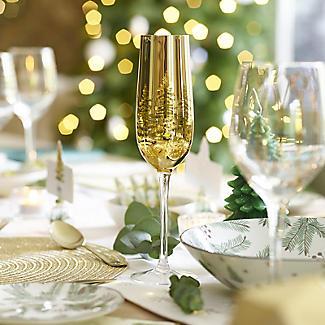 Gold Tree Champagne Flutes 200ml – Set of 2 alt image 2