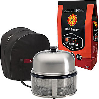 Cobb Premier Charcoal Barbecue Grill and Briquettes Bundle