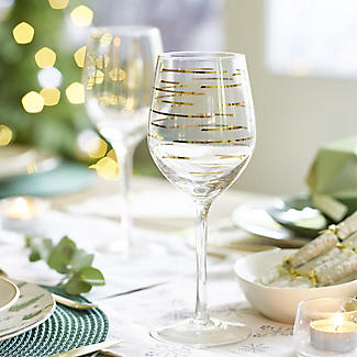 Mikasa Gold Etched Wine Glasses – Set