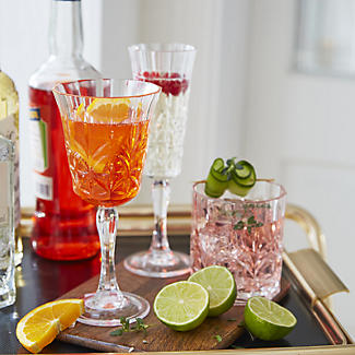 Crystal-Look Acrylic Wine Glasses – Set of 6 alt image 2