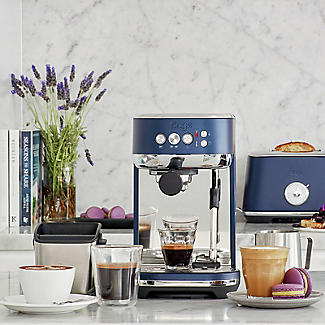 Sage The Bambino Plus Coffee Machine Damson Blue SES500DBL alt image 2