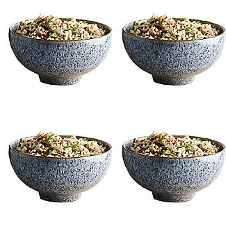 4 Denby Pottery Studio Grey  Rice Bowls