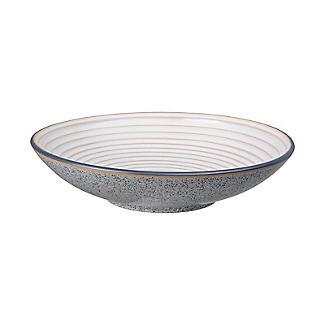 Denby Pottery Studio Grey Ridged Bowl 25.5cm Dia.
