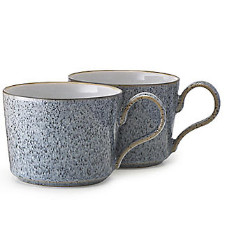 Denby Pottery Studio Grey Cappuccino Cups – Set of 2