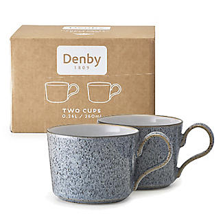Denby Pottery Studio Grey Cappuccino Cups – Set of 2 alt image 2