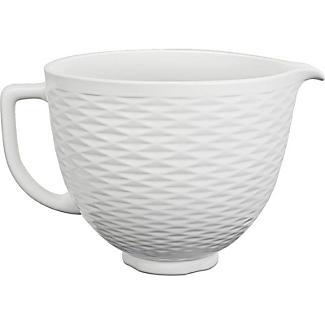 KitchenAid 3D Embossed White Ceramic Bowl 5KSM2CB5TLW