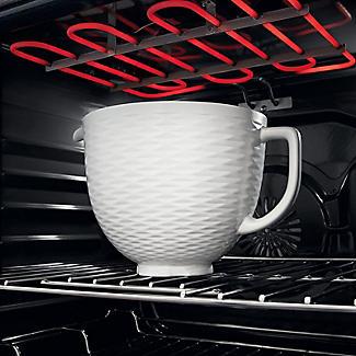 KitchenAid 3D Embossed White Ceramic Bowl 5KSM2CB5TLW alt image 3