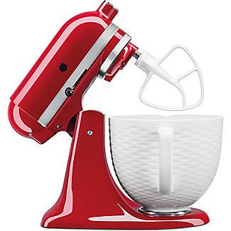 KitchenAid 3D Embossed White Ceramic Bowl 5KSM2CB5TLW alt image 4