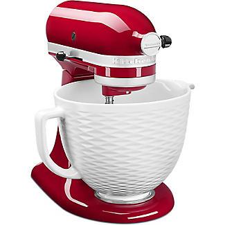 KitchenAid 3D Embossed White Ceramic Bowl 5KSM2CB5TLW alt image 5