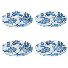 Summer Blooms Melamine Dinner Plates – Set of 4