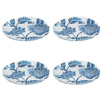Summer Blooms Melamine Dinner Plates – Set of 4