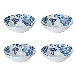 Summer Blooms Melamine Bowls – Set of 4