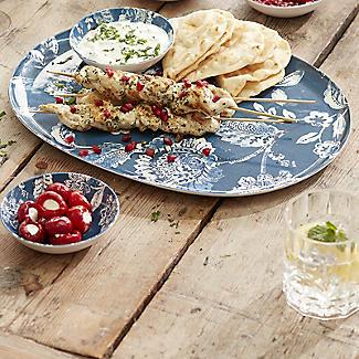 Summer Blooms Melamine Oval Platter with 2 Dip Bowls alt image 2