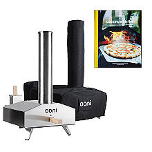 Ooni 3 Outdoor Oven with Cover and Cookbook Bundle