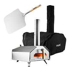 Ooni Pro Multi-Fuel Pizza Oven with Cover and Peel Bundle