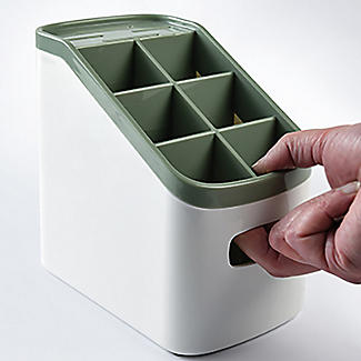 ILO Cutlery Holder and Drainer White and Sage Green alt image 6
