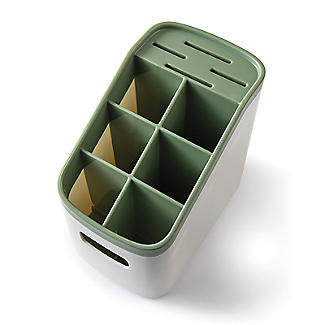 ILO Cutlery Holder and Drainer White and Sage Green alt image 8