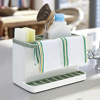 ILO Large Sink Tidy White and Sage Green alt image 2