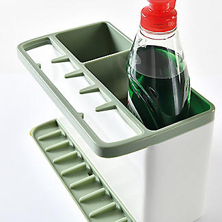 ILO Large Sink Tidy White and Sage Green alt image 4