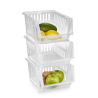 3 Lakeland Stackable Storage Baskets