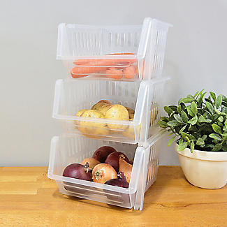 3 Lakeland Stackable Storage Baskets  alt image 2