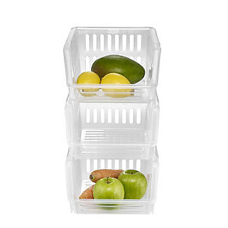 3 Lakeland Stackable Storage Baskets  alt image 3