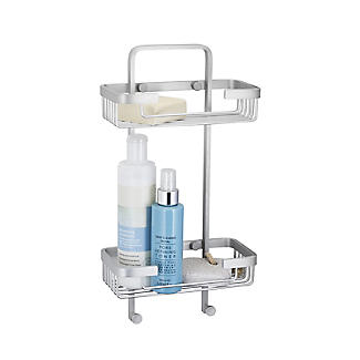 Tatay Ice Collection Aluminium Double Basket Shower Caddy