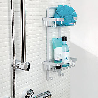 Tatay Ice Collection Aluminium Double Basket Shower Caddy alt image 2