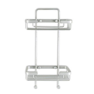 Tatay Ice Collection Aluminium Double Basket Shower Caddy alt image 3