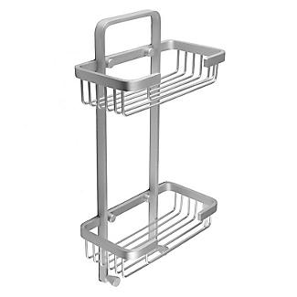Tatay Ice Collection Aluminium Double Basket Shower Caddy alt image 4