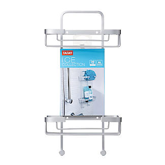 Tatay Ice Collection Aluminium Double Basket Shower Caddy alt image 5