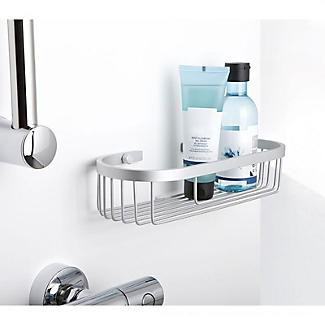 Tatay Ice Collection Aluminium Oval Shower Caddy alt image 2