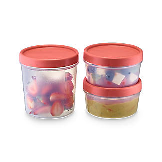 Tatay Screw Top Food Containers Coral - Set of 3
