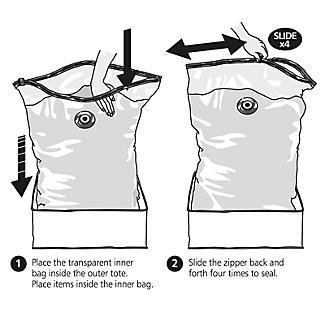 Lakeland Vacuum Clothes & Duvet Storage Tote Bags Bundle alt image 4