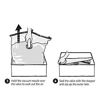 Lakeland Vacuum Clothes & Duvet Storage Tote Bags Bundle alt image 5
