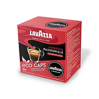 16 Lavazza A Modo Mio Espresso Passionale Eco Caps Coffee Capsules