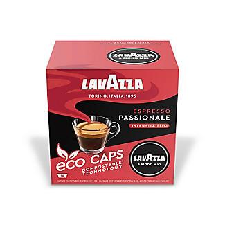 16 Lavazza A Modo Mio Espresso Passionale Eco Caps Coffee Capsules alt image 2
