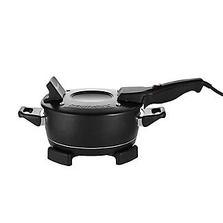 Standard Remoska 2 Litre Electric Cooker with Glass Lid Black