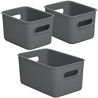 Tatay Baobab 2 x 1.5L & 5L Baskets Bundle - Anthracite Grey