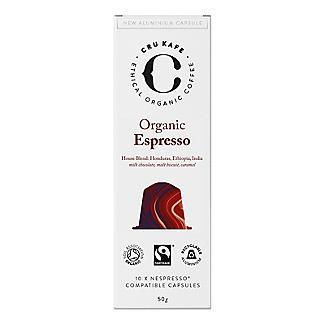 10 CRU Kafe Organic Espresso Recyclable Coffee Capsules