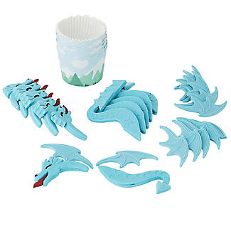 PME Dragon 6 Cupcake Cases and Topper Kit alt image 3