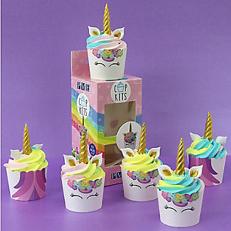 PME Unicorn 6 Cupcake Cases and Toppers Kit alt image 2