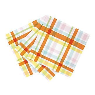20 Talking Tables Spring Check Napkins