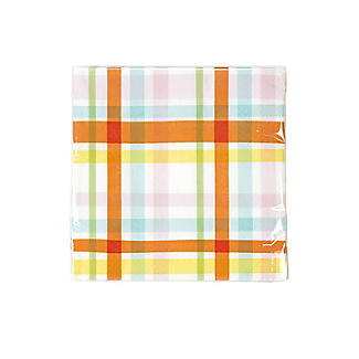 20 Talking Tables Spring Check Napkins alt image 2
