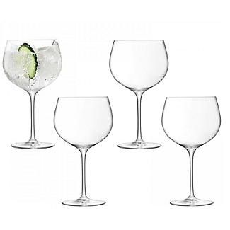 4 LSA Large Gin Balloon Glasses Set